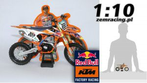 MODEL New Ray 1:10 KTM Red Bull SX-F Factory Racing Tony Cairoli #222