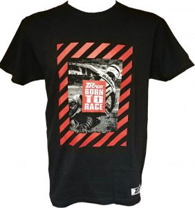 T-shirt ZRACR Born To Race (black/red) -limited edition