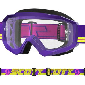 Gogle Scott Hustle MX Purple Clear Works