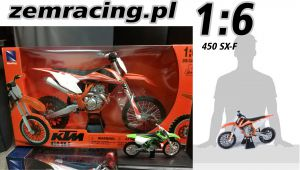 MODEL New Ray 1:6 KTM 450 SX-F Dirt Bike